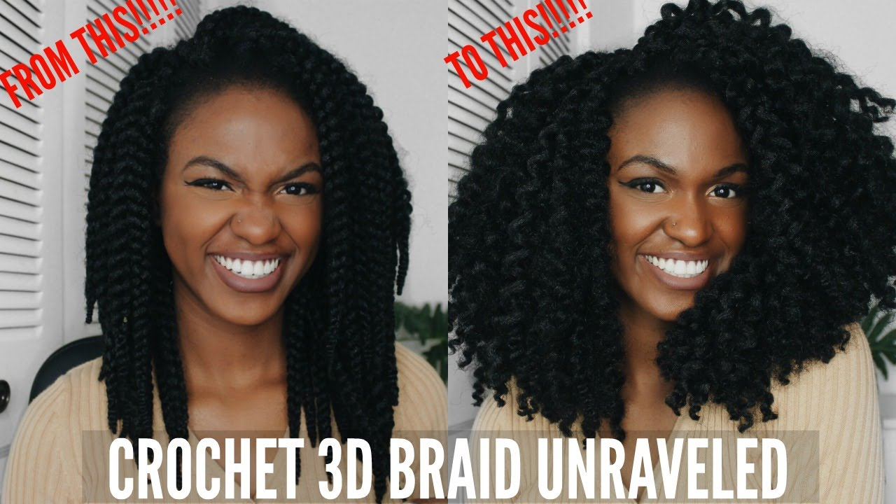 Unraveling My X Pressions 3d Crochet Braid 12 Inch Youtube
