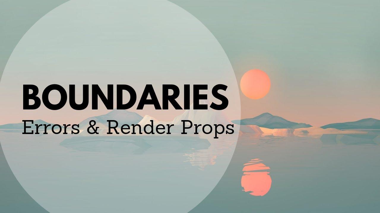 Error Boundaries and Render Props | Leigh Halliday