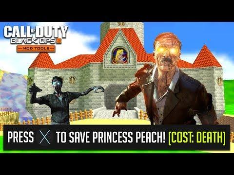 """SAVE THE PRINCESS!"" - SUPER MARIO 64 ZOMBIES   BLACK OPS 3 ""CUSTOM ZOMBIES"" MAP (BO3 Mods)"