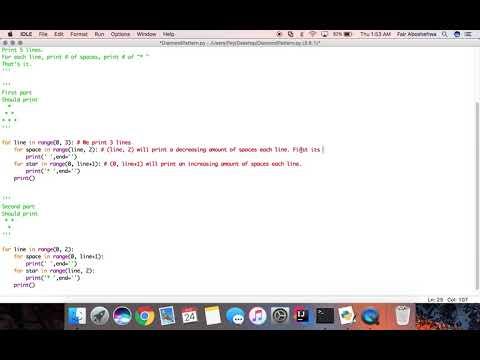 How to Draw Diamond Pattern in Python Tutorial