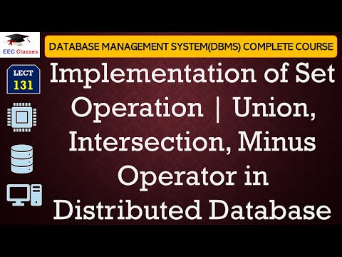 Implementation of Set Operation | Union, Intersection, Minus Operator | Algorithms with Example
