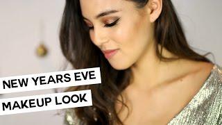 New Years Eve Shimmery Gold Makeup Look