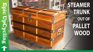Steamer Trunk Treasure Chest Made From Reclaimed Pallet Wood.