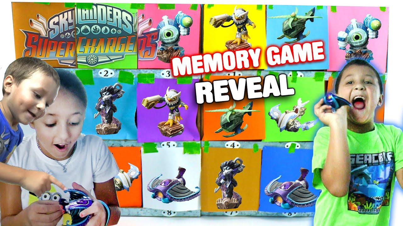 Skylanders Superchargers Surprise Memory Game Toy Reveal! (Make a Match) Nightfall, Diveclops + More
