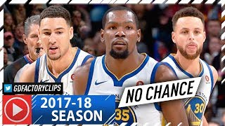 Stephen Curry, Klay Thompson & Draymond Green BIG 3 Highlights vs Cavaliers (2018.01.15) - STRONG!