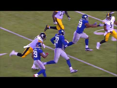 Joshua Dobbs Throws Pick To Giants Defensive Lineman |Giants vs Steelers Preseason|