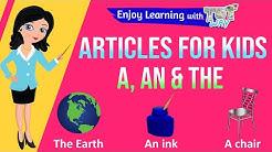 Articles – a, an, the | English | Grade-2,3 | TutWay |