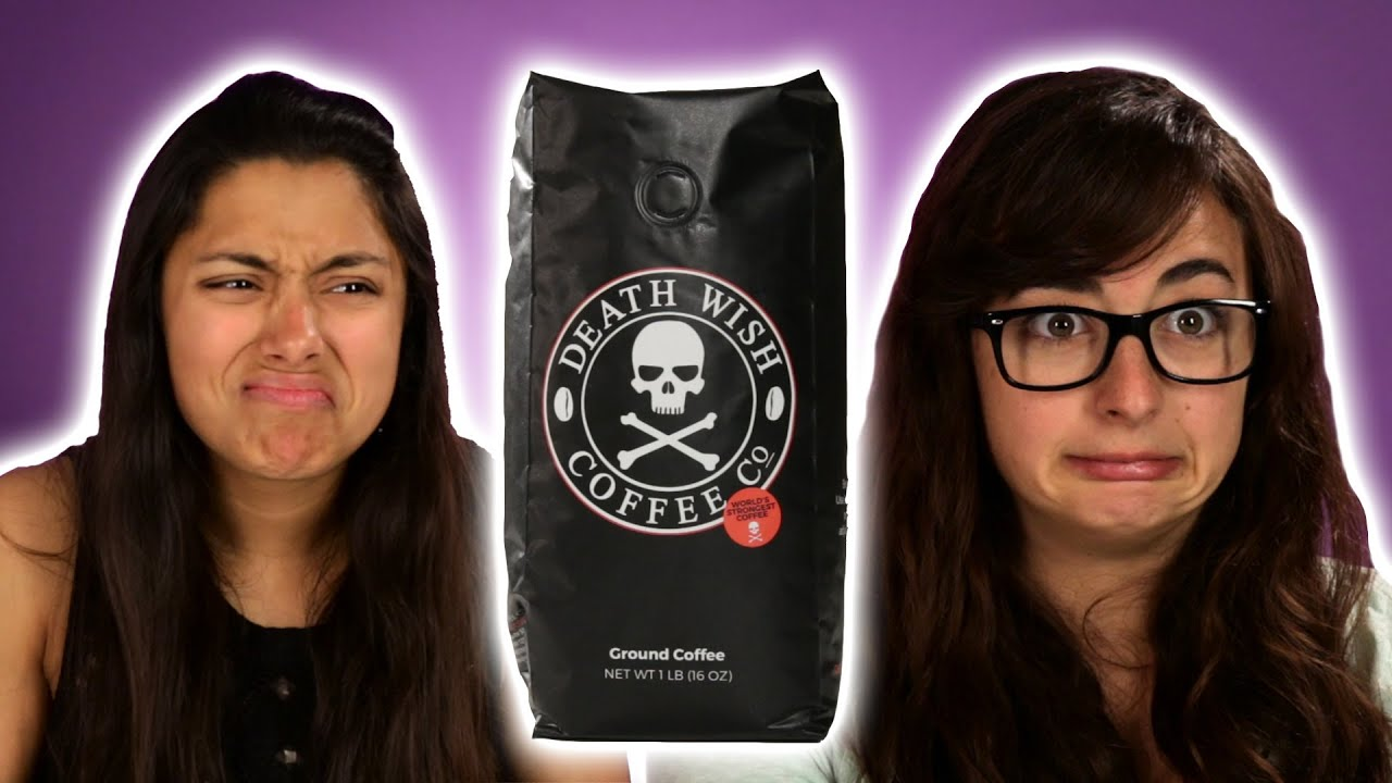 people try death wish coffee for the first time youtube