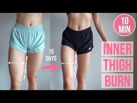 15 DAYS INNER THIGH BURN (10 min No Jumping Workout) #EmiTransform