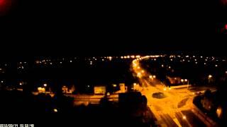 Starogard Gdański nocą z drona