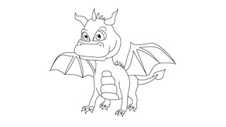 dragons draw easy step drawing