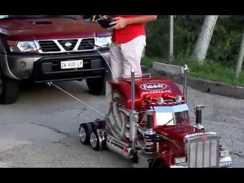 1:4 Scale Semi Truck Pulls Full Size Car