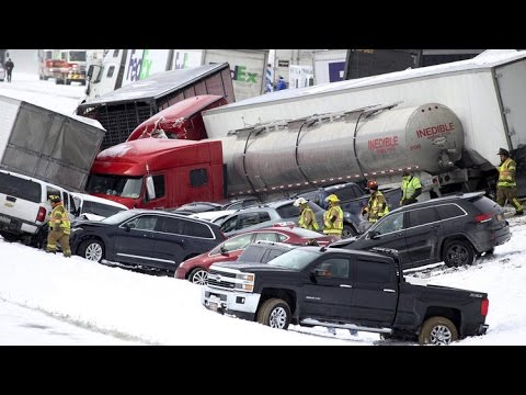 More than 50 cars involved in Pennsylvania pileup