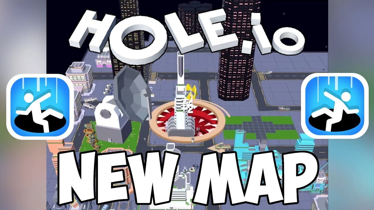 Hole Io New Map The Future City And First Highscore Youtube