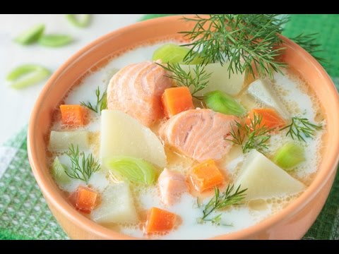 из фото лосося рыбный финский суп