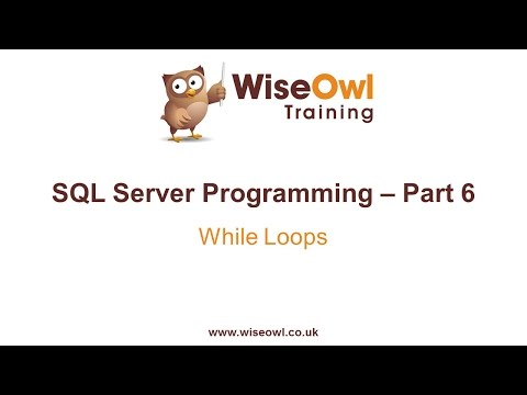 SQL Server Programming Part 6 - WHILE Loops - YouTube