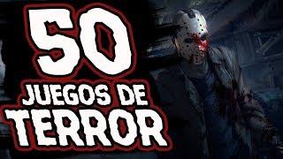 50 JUEGOS de TERROR 😱 | 50 HORROR GAMES ☠️