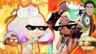 Marina & Pearl ROAST Sheldon & Crusty Sean!! Splatoon 2 Mayo VS Ketchup Splatfest