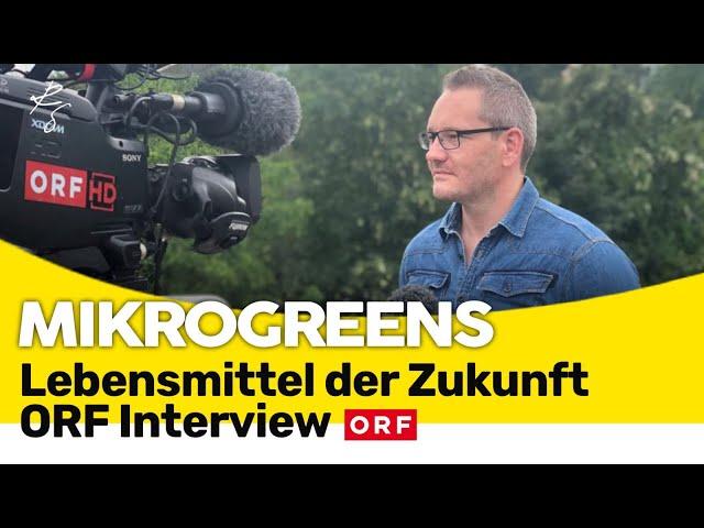 Microgreens - Lebensmittel der Zukunft? - ORF  Interview mit Richard Staudner (2020)