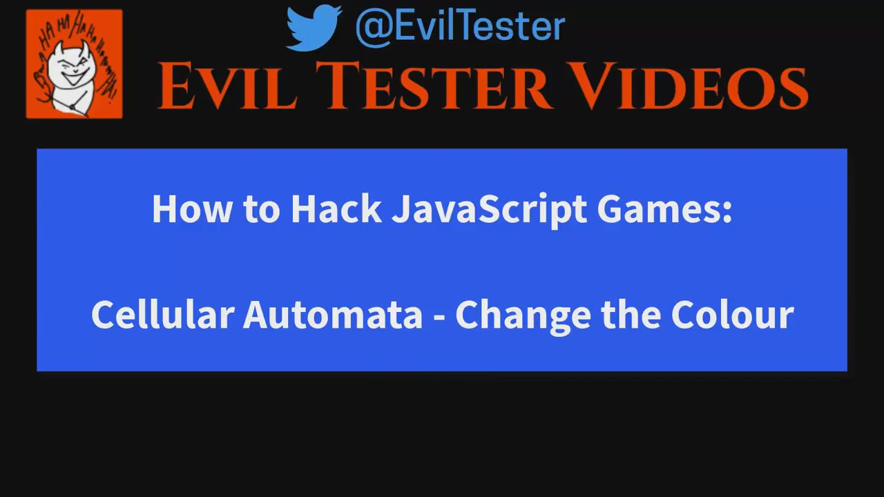 Hacking JavaScript Games - Cellular Automata - Supporting Notes