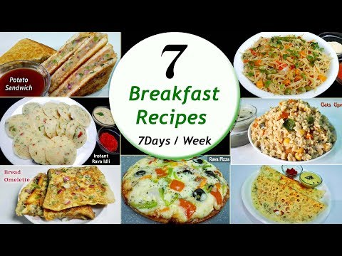 7 Breakfast recipes || 7 Days/Week Breakfast recipes || Simp