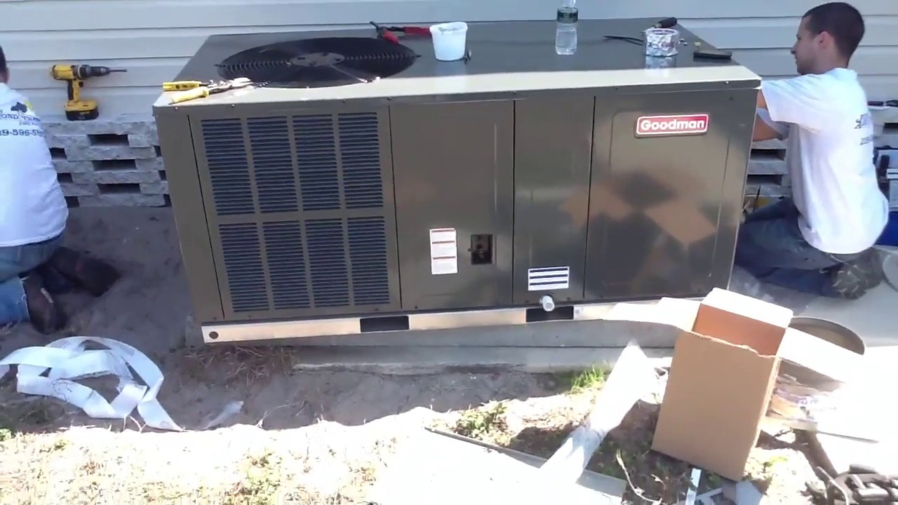 ac package equipment goodman system install [ 1280 x 720 Pixel ]