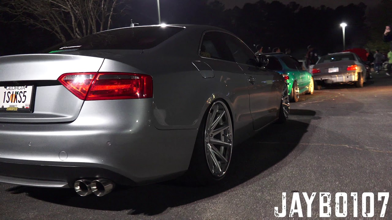 Slammed Audi S5 Coupes Gwinnett Meet 2 15 2018 Youtube