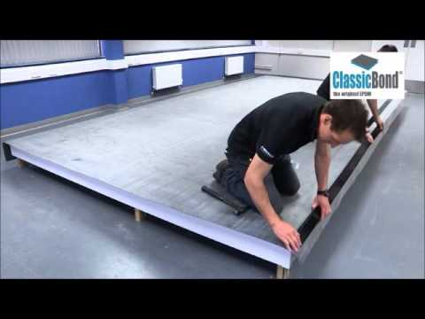 How To Install A Sure Edge Gutter Drip Trim Around A Flat Roof Youtube