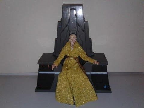 "Hasbro Star Wars the Last Jedi Black Series Throne room Supreme Leader Snoke 6"" figure review"
