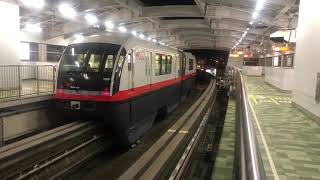 夜のゆいレール   古島駅    2019.02.19  Yui rail (Okinawa Urban Monorail)  Furujima Station at night thumbnail