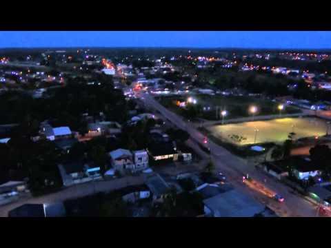 Filmagem da cidade de Porto Grande a partir da Torre da Claro.