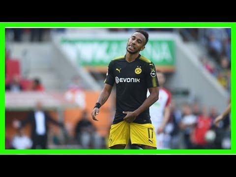 Sport News - Pierre-emerick aubameyang reacts with borussia dortmund hang