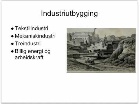 Industri Norge 1800-tallet på 5 min