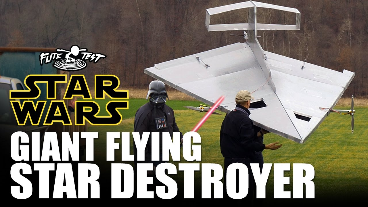 Building and Flying a 15' R/C Star Destroyer | Make: