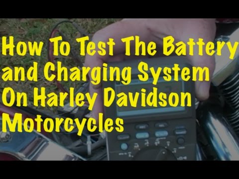 Testing the Battery and Charging System (Harley Davidson FXSTC