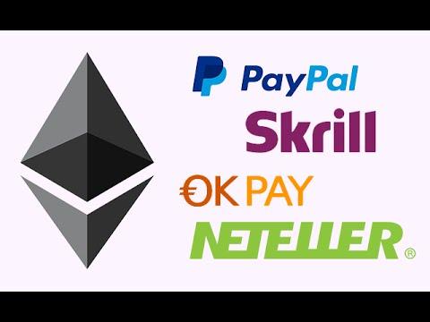 Покупка, продажа ETH (эфиров) за PayPal, Okpay, Skrill и пр.