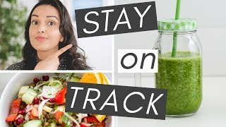 Sticking to a healthy diet and lifestyle can be hard, but there are things you do set yourself up for success. in this video, i share five tip...