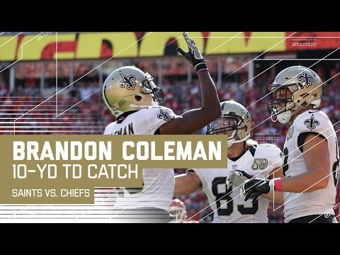 Drew Brees' Laser Pass to Brandon Coleman for a Late TD! | Saints vs. Chiefs | NFL