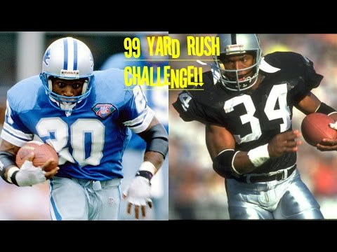 WHO CAN GET A 99YD RUSH FIRST?!? BARRY SANDERS VS BO JACKSON!! UNTOUCHABLE!!