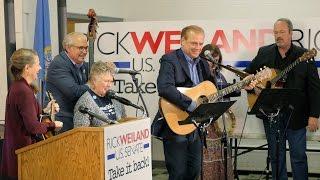 Democrat Rick Weiland sings his campaign message