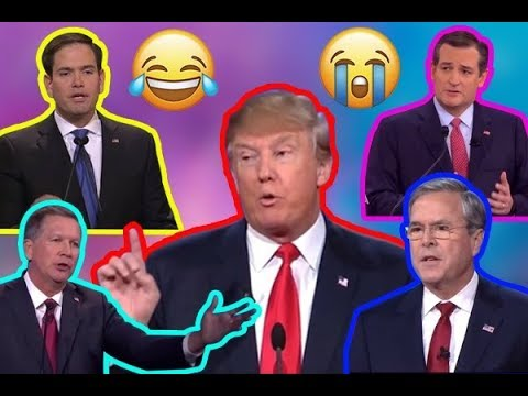 Campaign ** FLASHBACK {debates} ** Trump OWNS Rubio, Cruz, and Jeb
