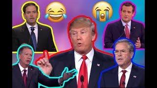 Campaign ** FLASHBACK {debates} ** Trump OWNS Rubio, Cruz, and Jeb