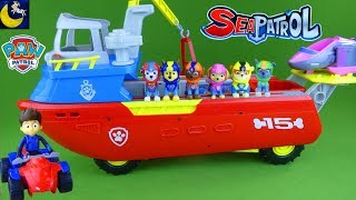 Paw Patrol Toys Sea Patroller Boat with Sea Patrol Ryder ATV Marshall Chase Skye Rubble Vehicle Toys