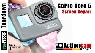 goPro Hero 5 Black Touchscreen Display Repair Replacement Reparatur Teardown disassemble