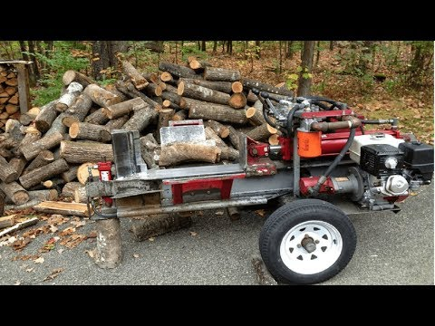 Fast Extreme Homemade Firewood Processing Machine,Modern Homemade Log Splitter,Wood Chainsaw Cutting