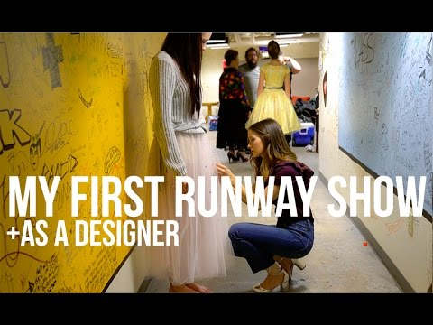 My first runway show as a designer