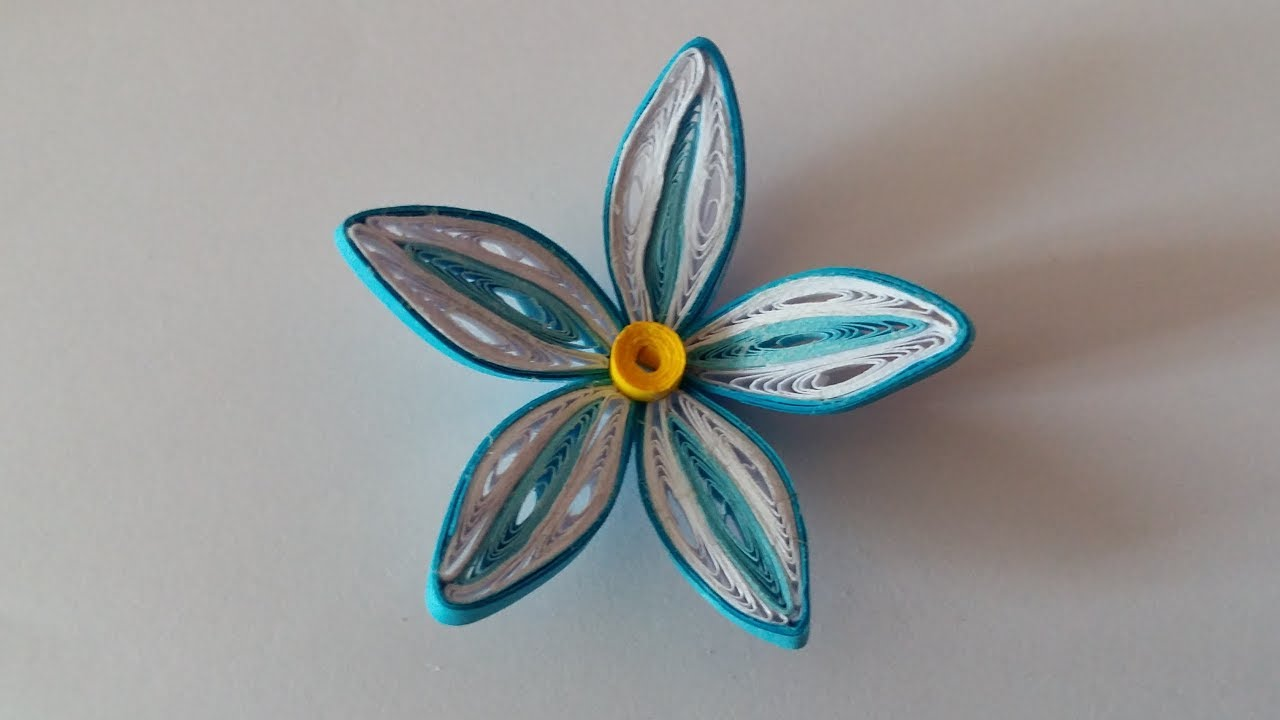 Fleur Quilling Modele 2 Quilling Flower 2 Youtube