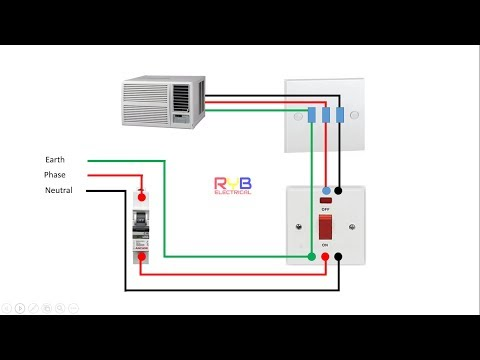window ac wiring connection  diagram RYB ELECTRICAL