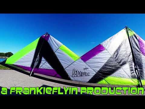 Revolution Reflex XX kite flying Clarks Point, Sydney Harbour (Dog Attack) with Frankie