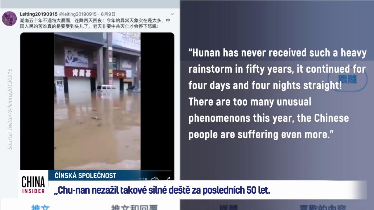 Povodně a sucha postihly v Číně miliony lidí
